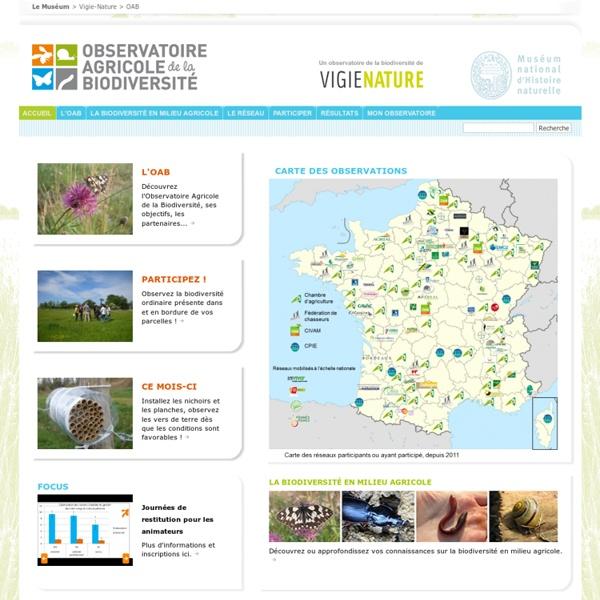 Site de l'observatoire agricole de la biodiversité.