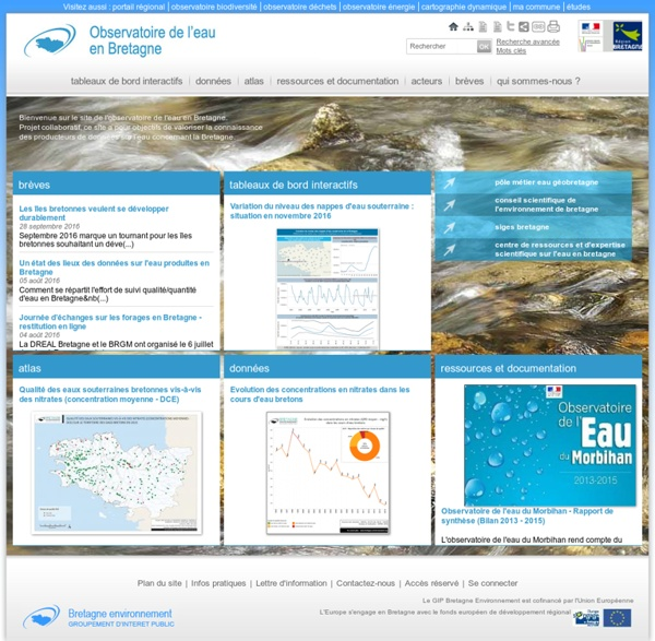 L'observatoire de l'eau en Bretagne