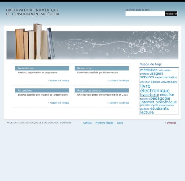 Observatoire du numérique de l'enseignement supérieur