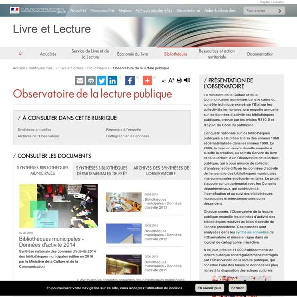 Observatoire de la lecture publique - Livre et Lecture