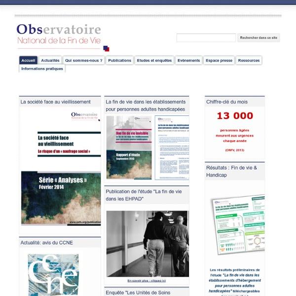 Observatoire National de la Fin de Vie (ONFV)