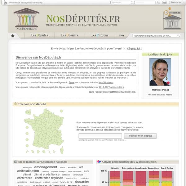 NosDéputés.fr : Observatoire citoyen de l'activité parlementaire