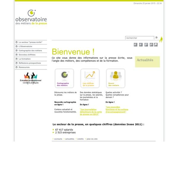 Observatoire Prospectif Métiers Presse-Bienvenue !-Bienvenue !