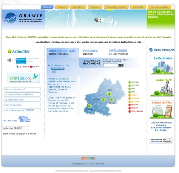 Observatoire Régional de l'Air en Midi-Pyrénées - ORAMIP