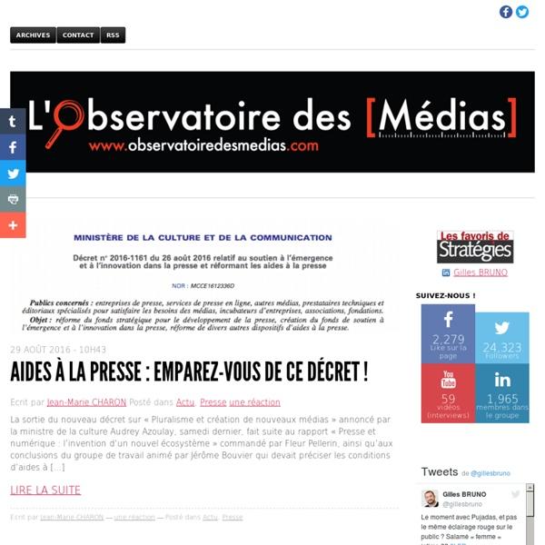 L'Observatoire des médias - comment le web révolutionne le monde de la presse
