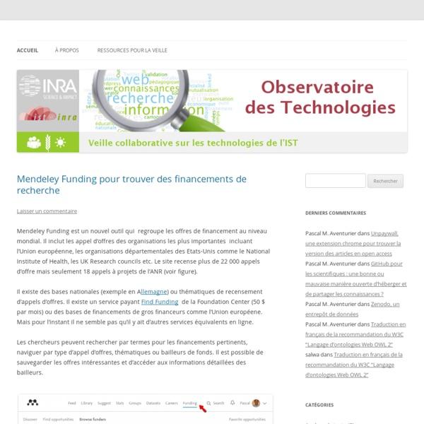 Observatoire des technologies de l'IST