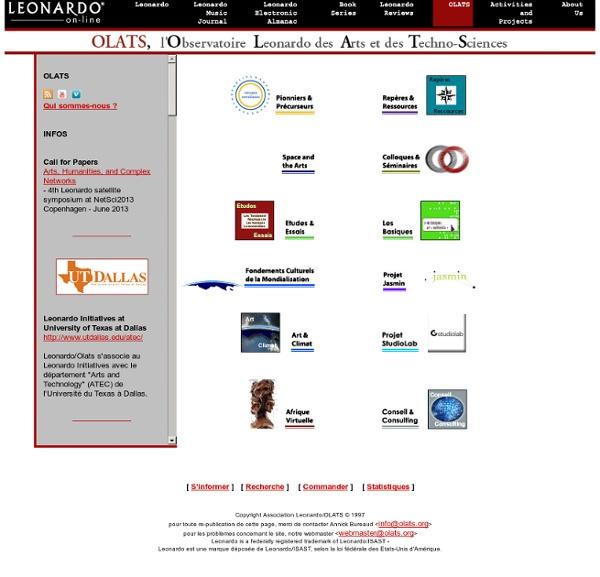 Org : Leonardo / OLATS - Observatoire Leonardo des arts et des technosciences