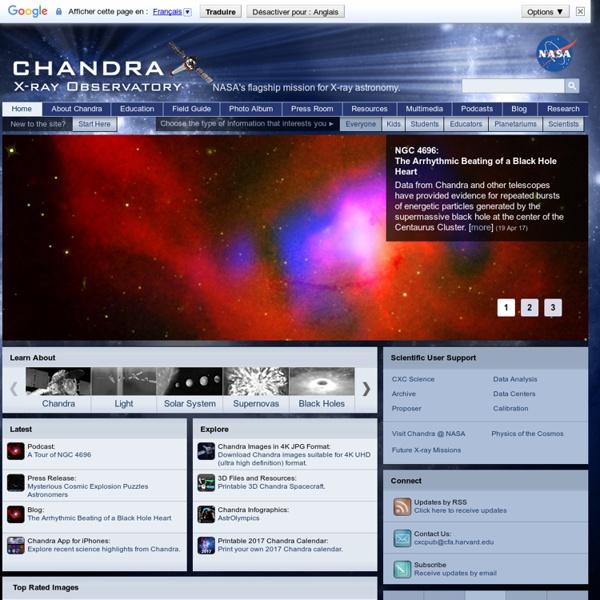 Chandra X-ray Observatory - NASA's flagship X-ray telescope