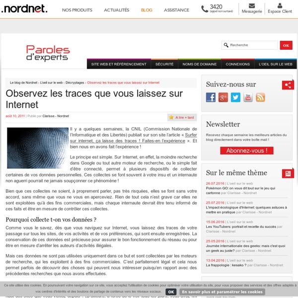 Observez les traces que vous laissez sur Internet-Le blog de Nordnet