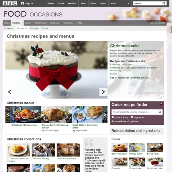 Food - Occasions : Christmas recipes and menus