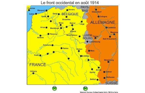 Evolution du front première guerre mondiale