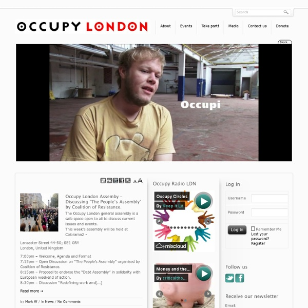 Occupy the London Stock Exchange