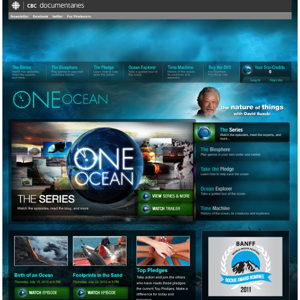 One Ocean: The Nature of Things with David Suzuki: CBC-TV