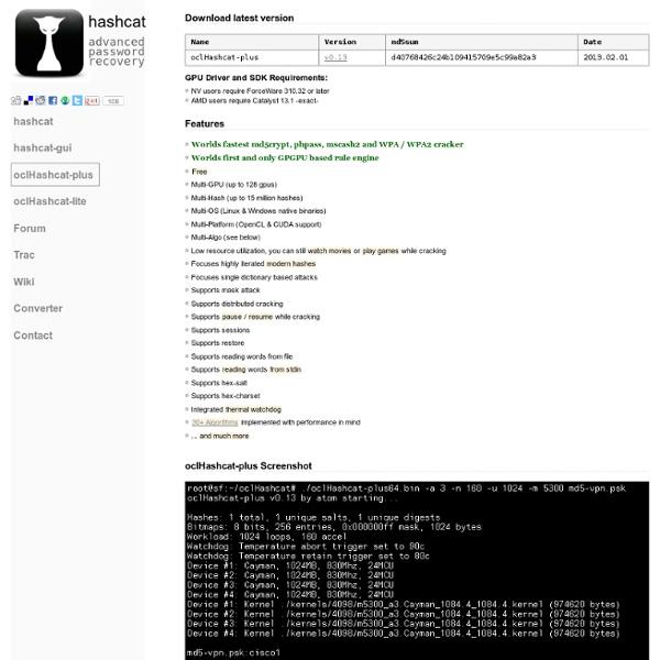 OclHashcat-plus - advanced password recovery