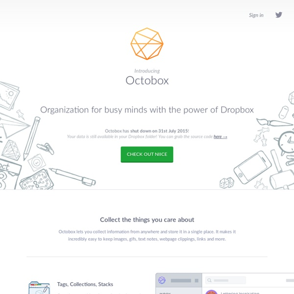 Octobox - Organization for busy minds with the power of Dropbox