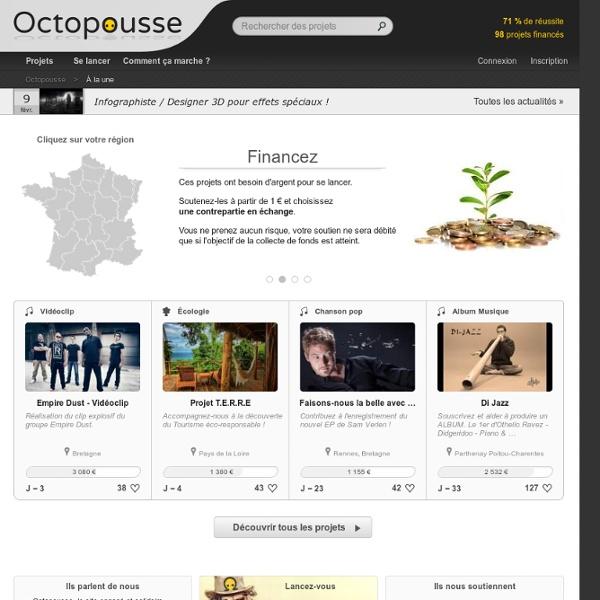 Octopousse, le crowdfunding engagé, solidaire et artistique