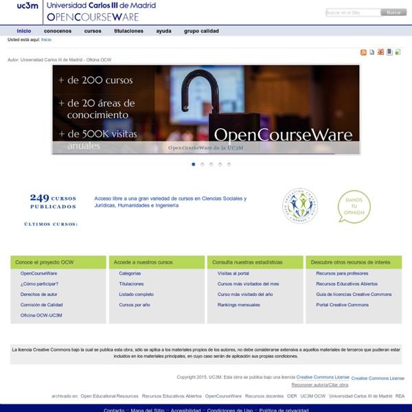 Bienvenido al OpenCourseWare de la Universidad Carlos III de Madrid — OCW - UC3M