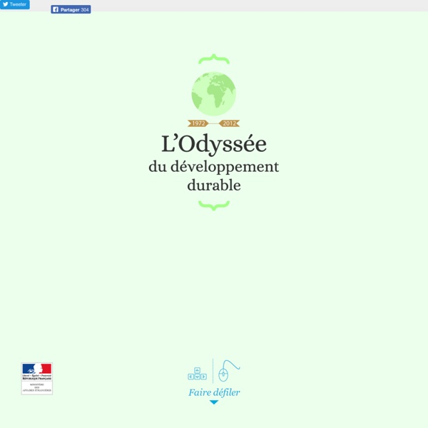 1972 - 2012 : l'Odyssée du développement durable