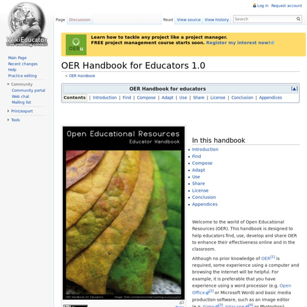 OER Handbook for Educators 1.0