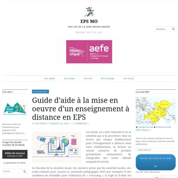 Guide d'aide à la mise en oeuvre d'un enseignement à distance en EPS – EPS MO