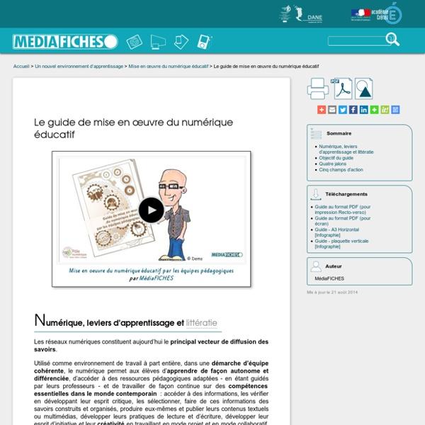 Le guide de mise en œuvre du numérique éducatif
