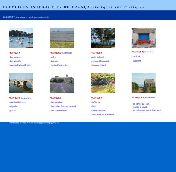 Eercices interactifs français