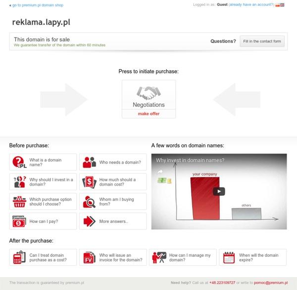 Oferta sprzedaży domeny reklama.lapy.pl (reklama)