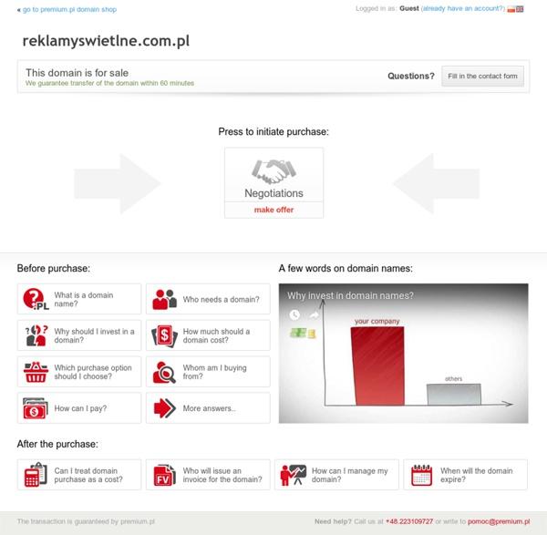 Oferta sprzedaży domeny reklamyswietlne.com.pl (reklamyswietlne)