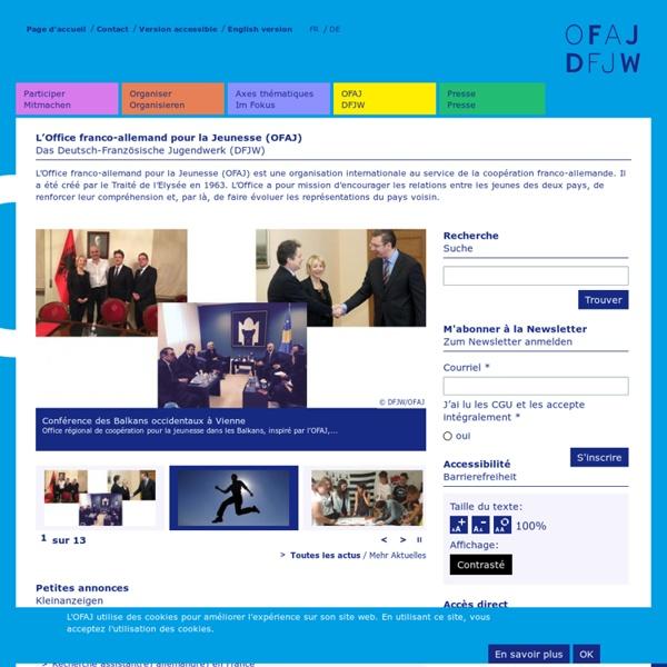 Office franco-allemand pour la Jeunesse (échange interculturel, job...)