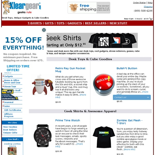 Geek Toys, Office Toys, Stress Balls, Cool Gadgets & Desk Toys at KlearGear.com