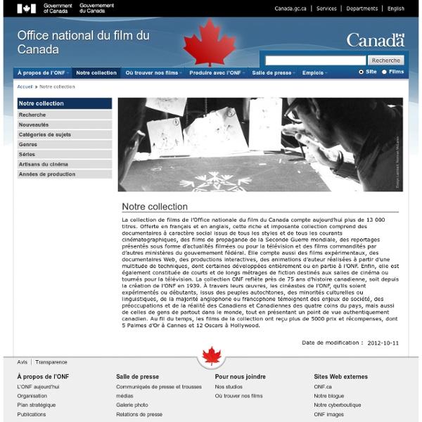 Collection de films - Office national du film du Canada - Documentaire, animation, fictions alternatives, contenu numérique - L'Effet boeuf
