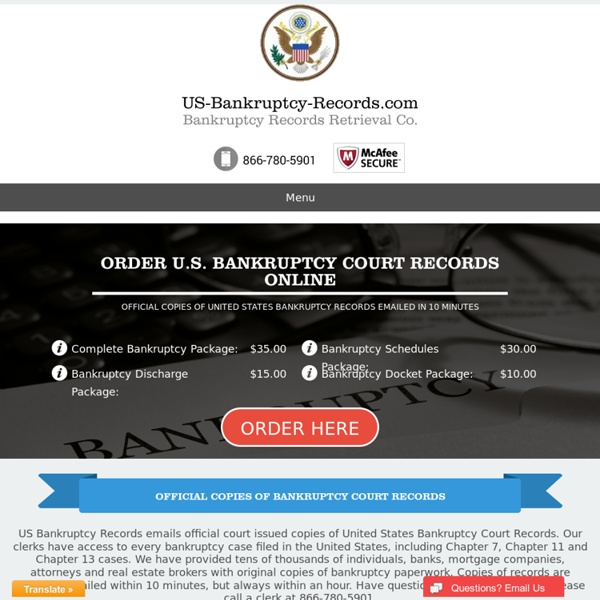 Copy of Bankruptcy - us-bankruptcy-records