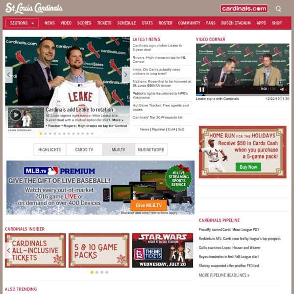 Official site of the st louis cardinals