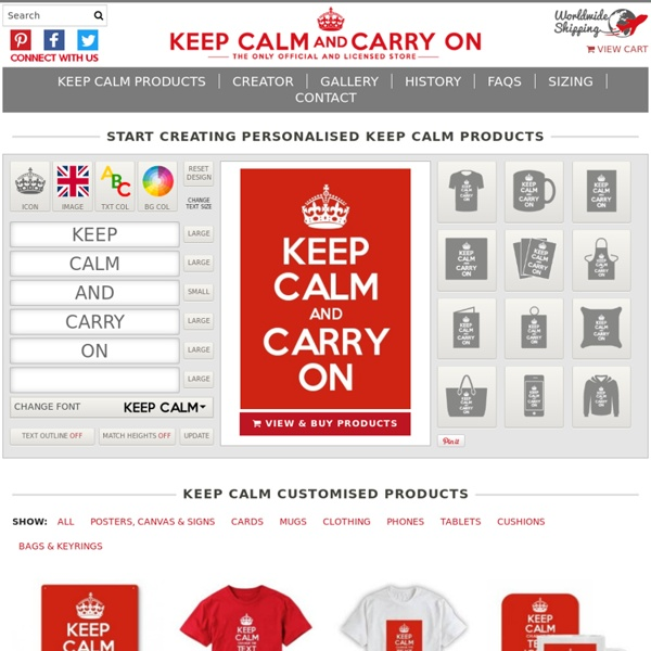 Keep Calm and Carry On Official Store Create & Design Your Own Products!