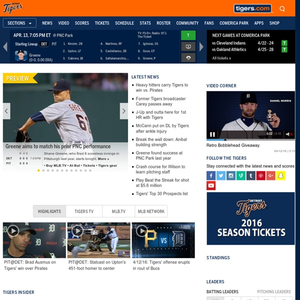 The Official Site of The Detroit Tigers | Pearltrees