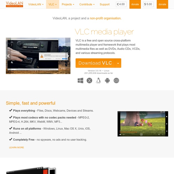 Official page for VLC media player, the Open Source video framework!