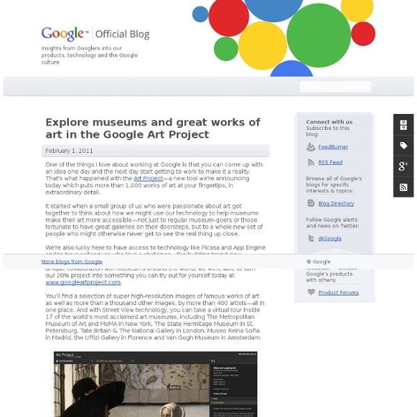 Explore museums and great works of art in the Google Art Project