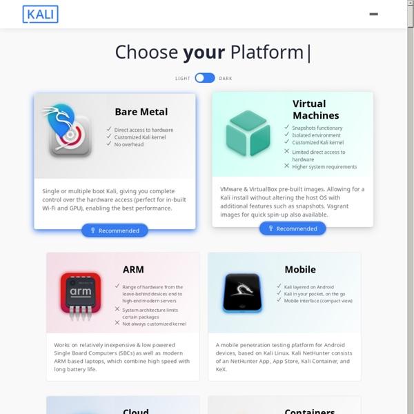 Official Kali Linux Downloads