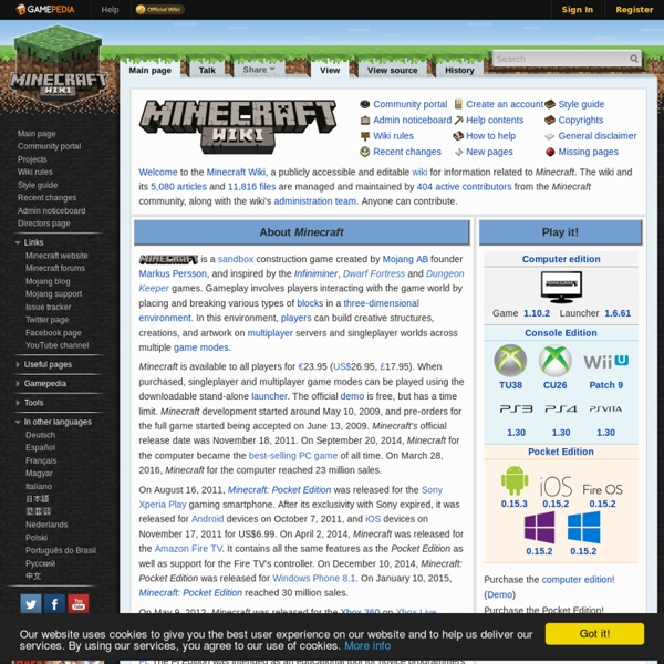 Official Minecraft Wiki - The ultimate resource for all things Minecraft