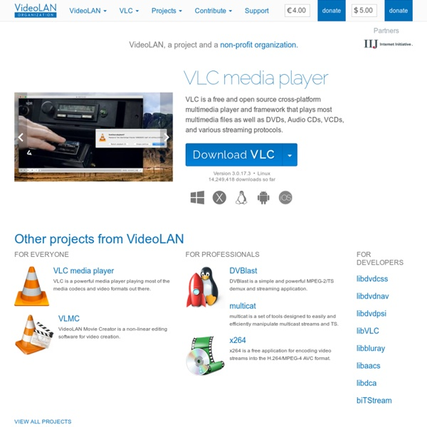 VLC: Free streaming and multimedia solutions for all OS!