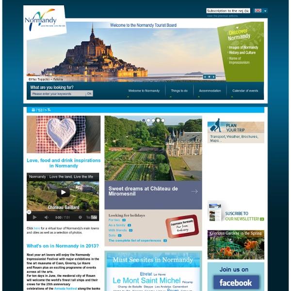 Normandie Tourisme - Site officiel du Comité régional de Tourisme de Normandie - CRT de Normandie - Normandie Tourisme