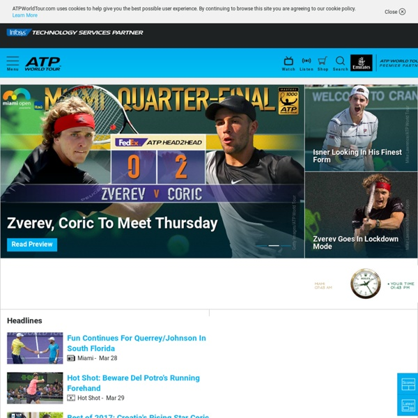 Official Site of Men's Professional Tennis