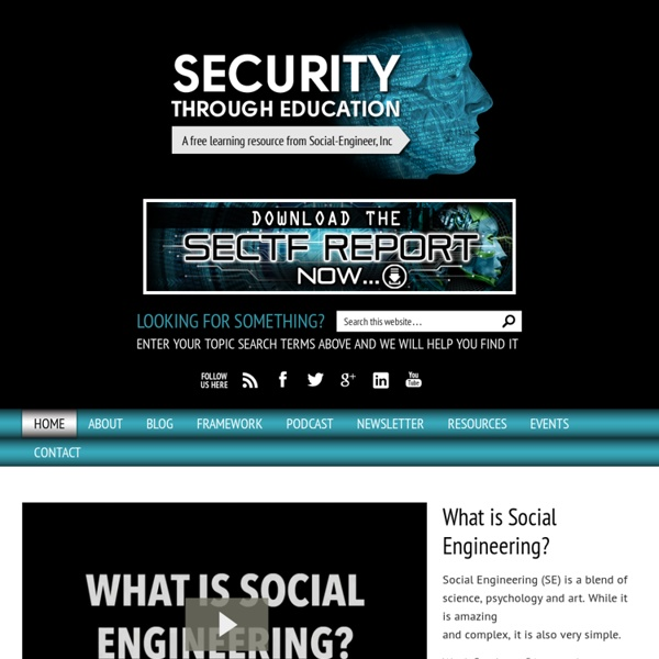 Social Engineering - Security Through Education