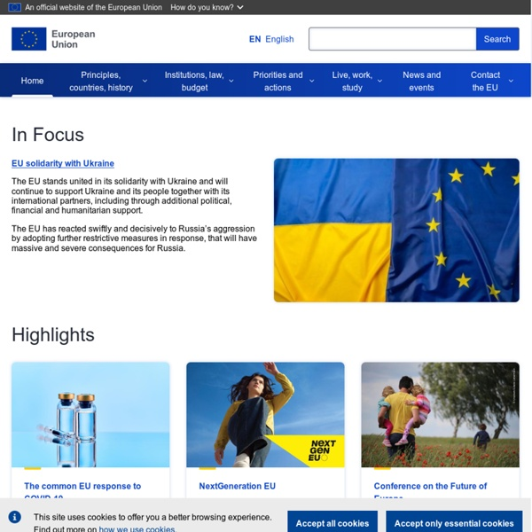 Official website of the European Union