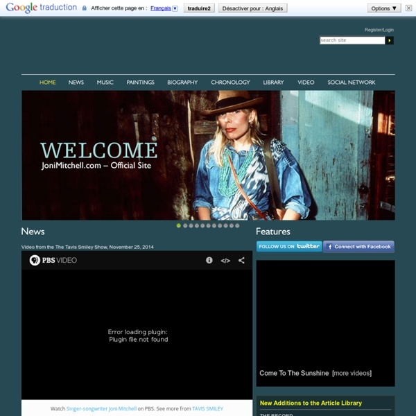 The Official Website of Joni Mitchell