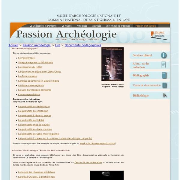 Site Officiel du Musée d'Archéologie Nationale et du Domaine National de Saint-Germain-en-Laye