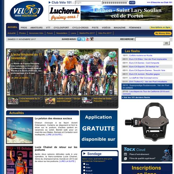 Vélo 101 le site officiel du vélo - cyclisme vtt cyclosport cyclo-cross