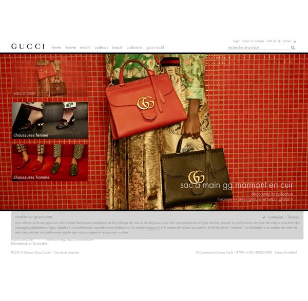 Site officiel Gucci- Fondé à Florence, Italie en 1921.