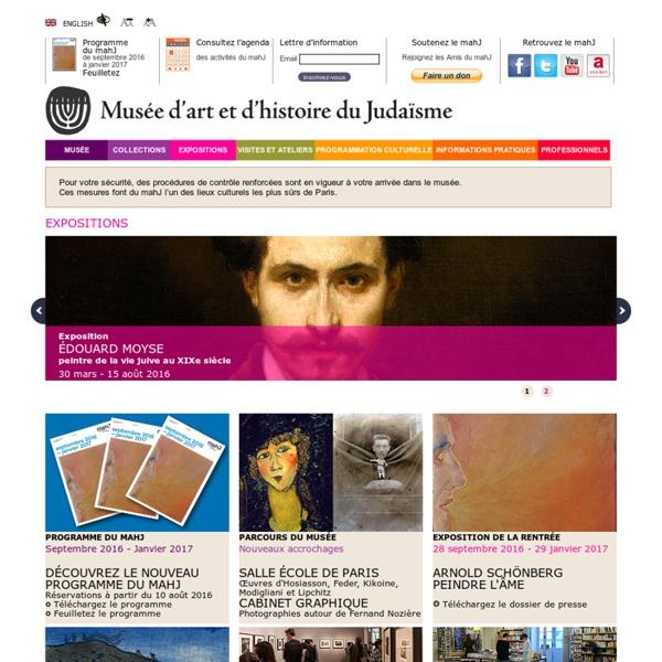 Accueil Site officiel du Musée d'art et d'histoire du Judaïsme Mahj