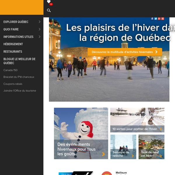 Site officiel de l'Office du tourisme de Québec
